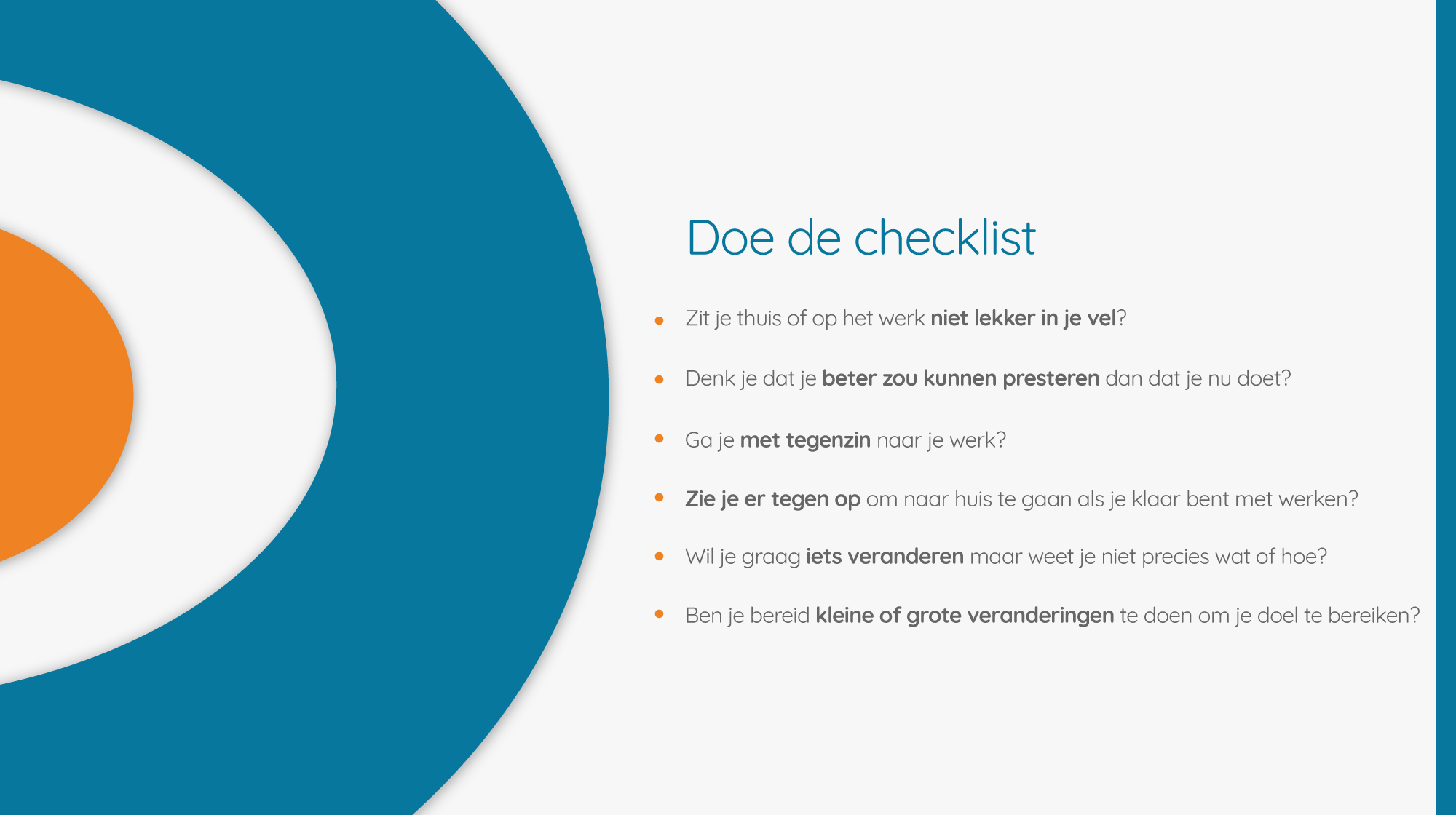 problemen met stress op je werk of privé. checklist_particulier