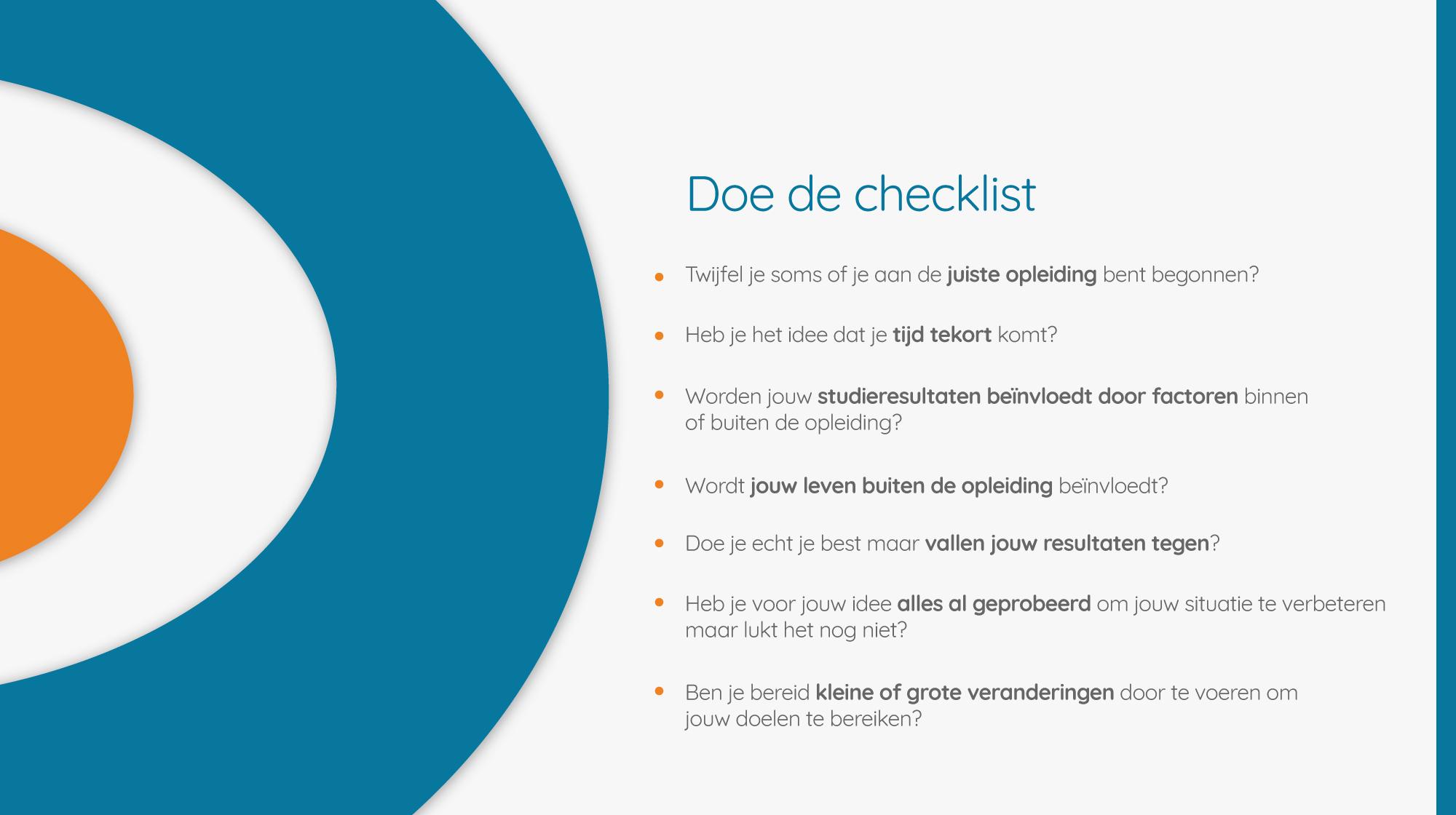 checklist-student